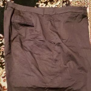 White sateen modern fit pants